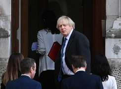 British Prime Minister Boris Johnson attends a UN Security Council meeting on climate and security (ANSA)