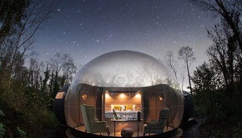 2. Bubble Domes, Finn Lough, Enniskillen, Contea di Fermanagh (ANSA)