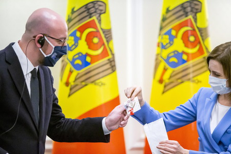 European Council President Charles Michel visits Moldova