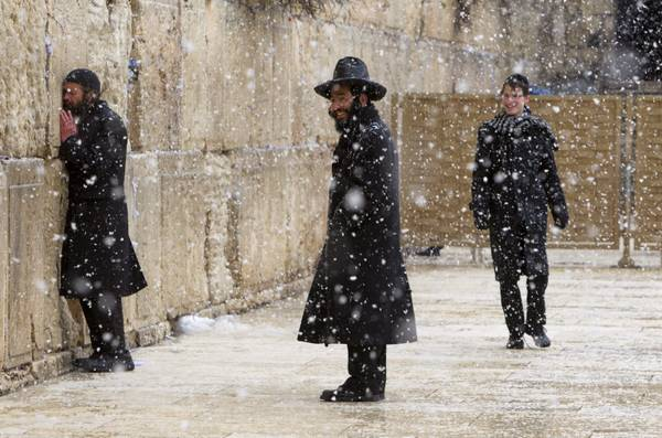 Snow in the Old City of Jerusalem
