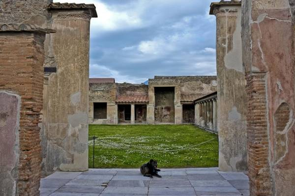 A view of the archeological area of Pompeii