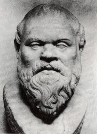 Bust of Socrates dating back to 380 b. C. (Naples, Museo Archeologico Nazionale)