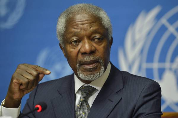 Annan gives press conference on Syria