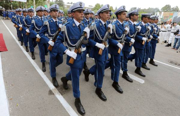 Graduation ceremony at police academy in Algeria
