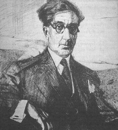 A portrait of Constantine Cavafy