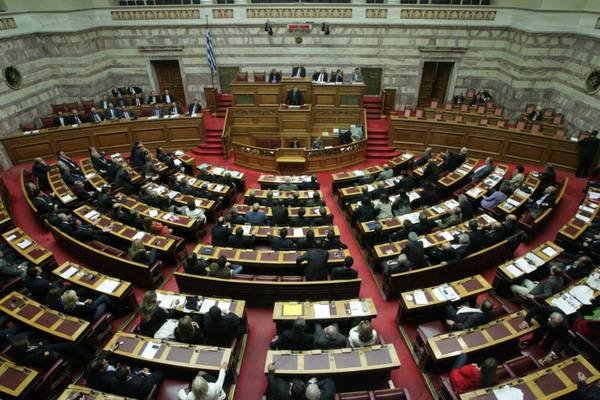 A view of the Greek Parliament