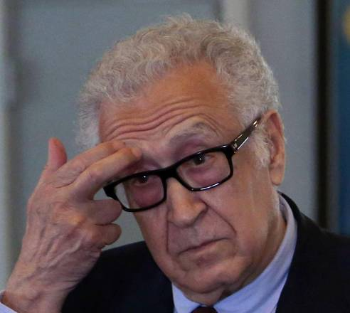 UN-Arab League envoy for Syria Lakhdar Brahimi in Iraq