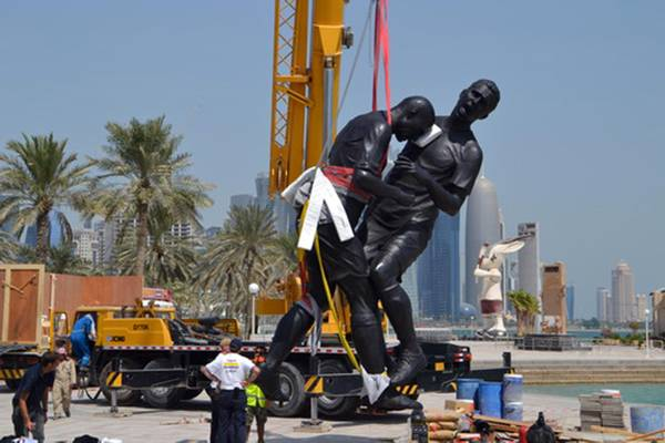 Qatar erects 5-meter-high 'Head Butt' statue of Zidane