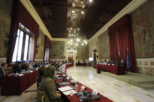 The Culture Committee of the UfM Parliamentary Assembly meeting in the Italian Parliament