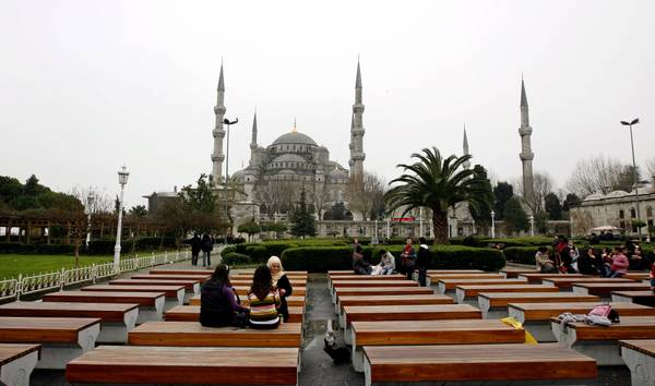 A general view of the Blue Mosque in Istanbul