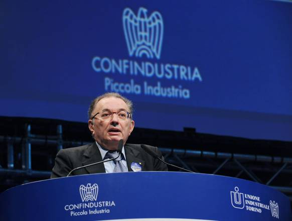Giorgio Squinzi, head of powerful Italian industrial employers' group Confindustria