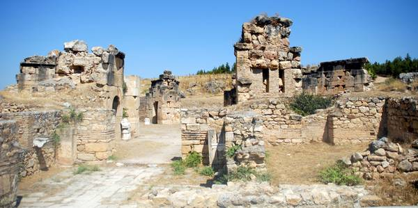 The archaeological area oh Hierapolis