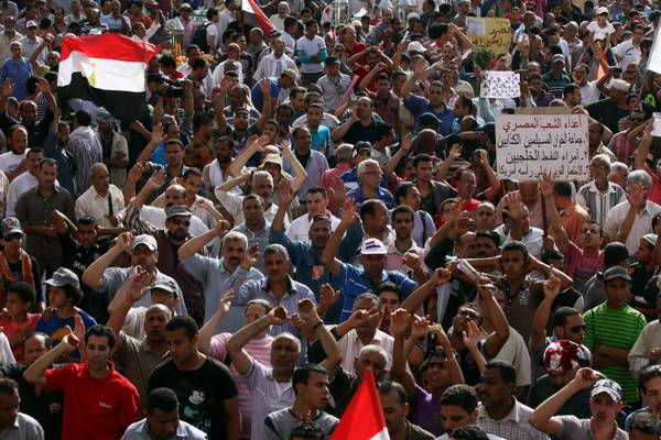 Protest against Egyptian government on Tahrir Square in Cairo (archive)