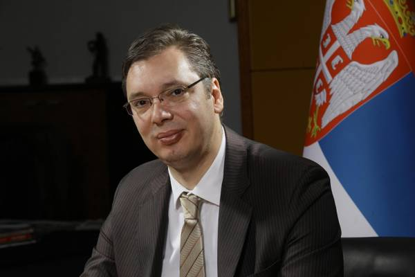 The first vicepresident and Defence minister of the Republic of Serbia, Aleksandar Vucic