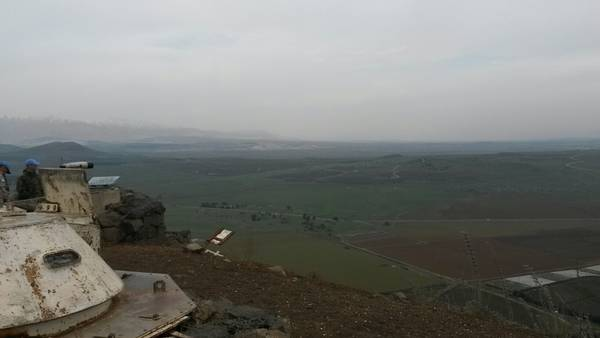 A UN tank on the Golan Hights (credit: Patrizio Nissirio)