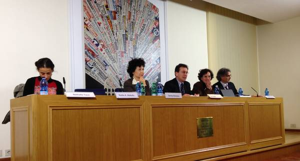 The panel of the debate 'What Egypt after Morsi' in Rome