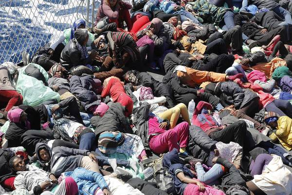 Migrants rescued off Lampedusa (archive)