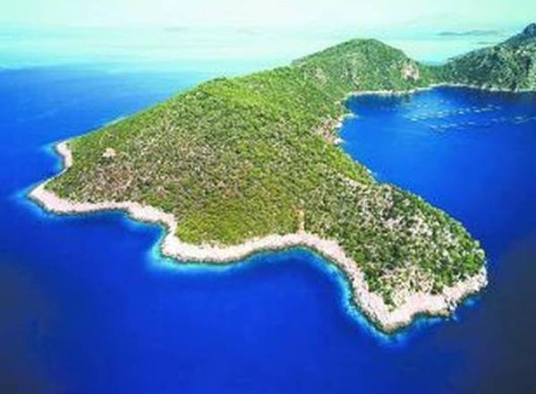 The Greek island of Oxia in the Ionian Sea