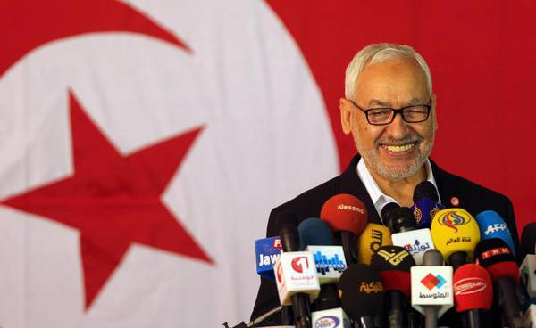 Historic leader of Ennhadha Rached Ghannouchi