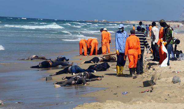 Bodies of illegal migrant washed up on Libyan shore [ARCHIVE MATERIAL 20140825 ]