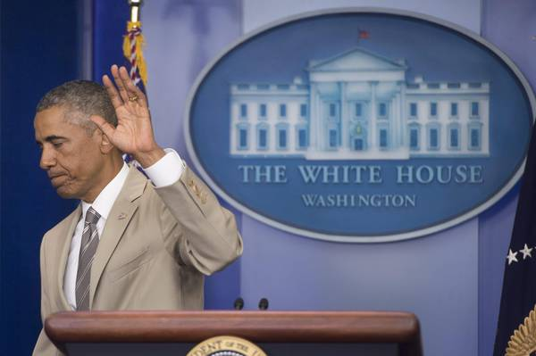 US President Barack Obama delivers a statement