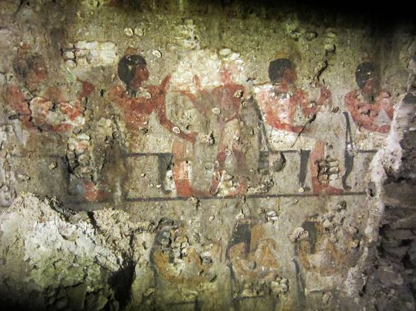 A fresco in the Maya tomb, Luxor
