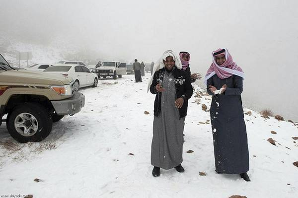 Snow in Saudi Arabia