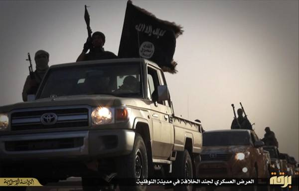 Pick up of Isis in Nawfaliyah, Libia