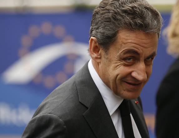 Former French president and leader of right-wing opposition party UMP Nicolas Sarkozy