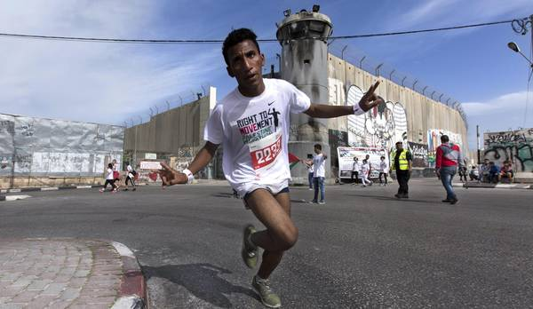 Palestine Marathon run in Bethlehem