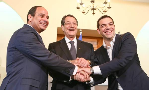 Cyprus, Greece, and Egypt tripartite summit meeting