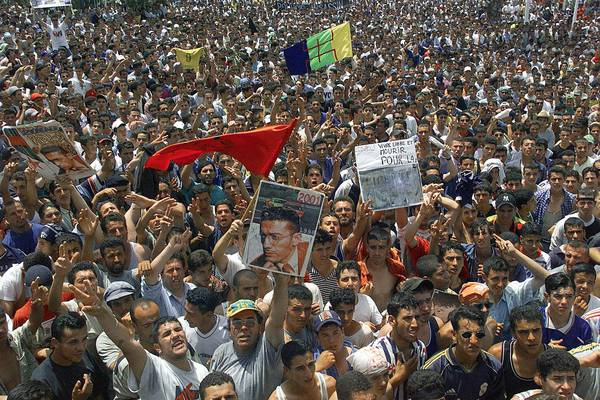 Thousands of Berbers stage a march in Tizi-Ouzou in Algeria