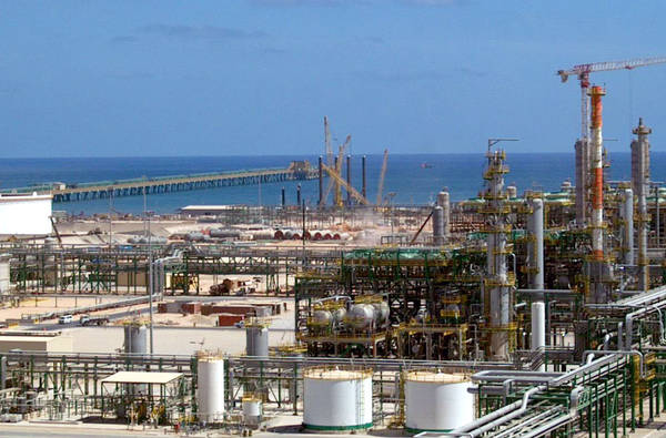Eni oil and gas company complex in the city of Mellitah in western Libya