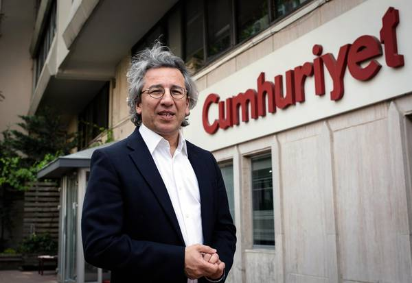 Can Dundar, the editor-in-chief of opposition newspaper Cumhuriyet