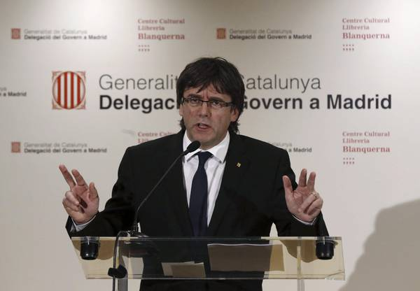 SPANISH ACTING PM MEETS CATALONIAN REGIONAL GOVERNMENT PRESIDENT