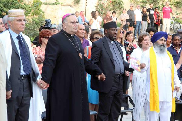 An interreligious commemoration of the 2013 Lampedusa shipwreck