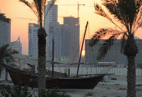 Sunset in Manama (archive)