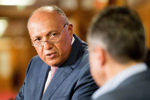 Egyptian Foreign Minister Sameh Hassan Shoukry