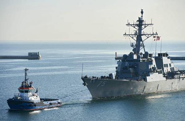 US Navy 'USS Donald Cook' in Gdynia [ARCHIVE MATERIAL 20160408 ]