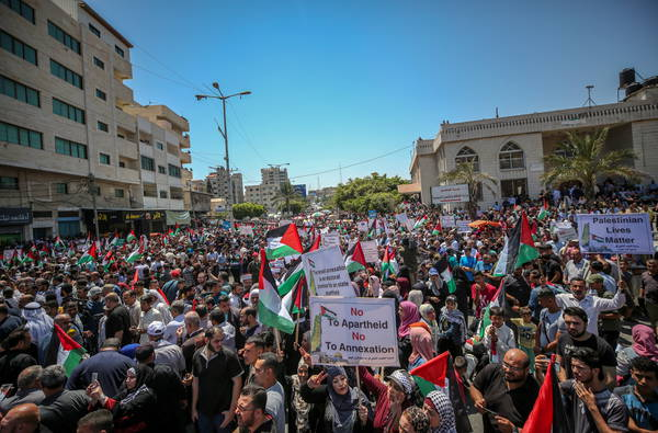 'Day of Rage' in Gaza to protest Israel annexation