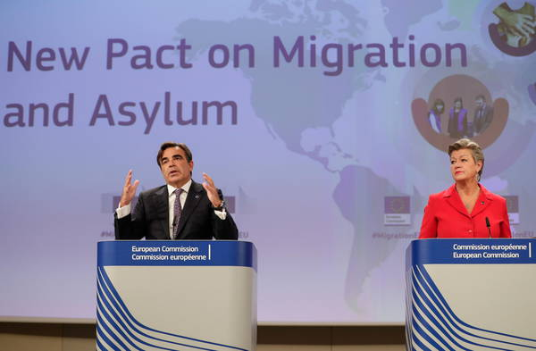 New Pact for Migration and Asylum's press conference
