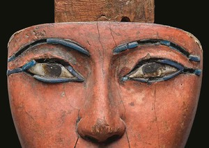An Egyptian Polychrome Wood Mummy Mask, 21st/22nd Dynasty, 1075-716 B.C. Estimate 100,000-150,000 (credit to Sotheby's)