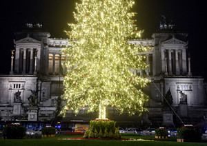 Inauguration of Spelacchio Christmas tree in Rome
