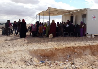 Mideast Jordan Syrian Refugees Fenced in