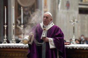 Ash Wednesday mass in St. Peter's Basilica at the Vatican