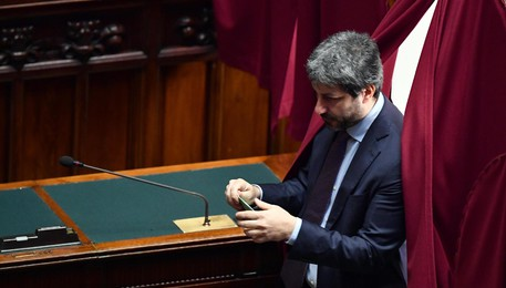 Five-Star Movement (M5S) Roberto Fico before casting his ballot to elect the Speaker of the Italian Chamber of Deputies during the first day of the XVIII legislature in Rome, Italy, 24 March 2018. ANSA/ETTORE FERRARI (ANSA)