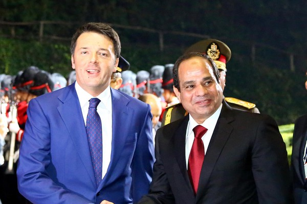 Renzi receives Al-Sisi