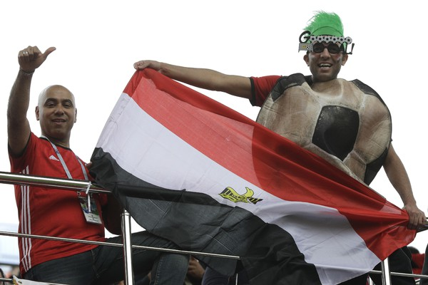 Russia Soccer WCup Egypt Uruguay