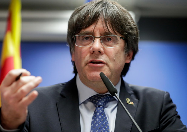 L'europarlamentare catalano, Carles Puigdemont (ANSA)