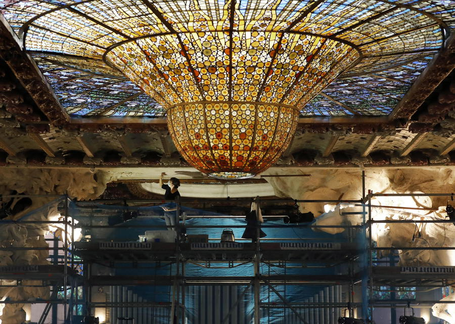 Restoration works in Palau de la Musica ©